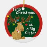 Primer navidad como hermana grande ornamento de reyes magos