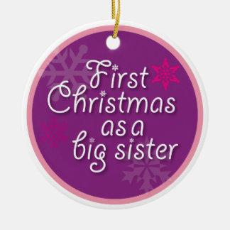 Primer navidad como hermana grande ornamento para arbol de navidad