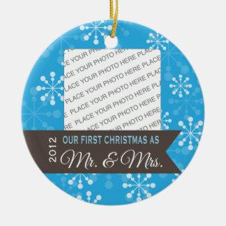 Primer navidad como Sr y señora Christmas Ornamen Adorno De Navidad