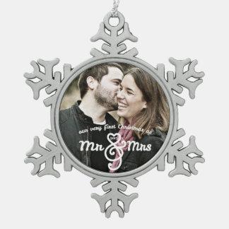 Primer navidad como Sr y señora Keepsake Ornament