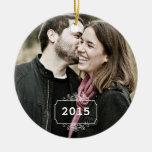 Primer navidad como Sr. y señora Keepsake Ornament Adornos