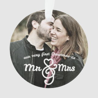 Primer navidad como Sr. y señora Photo Ornament