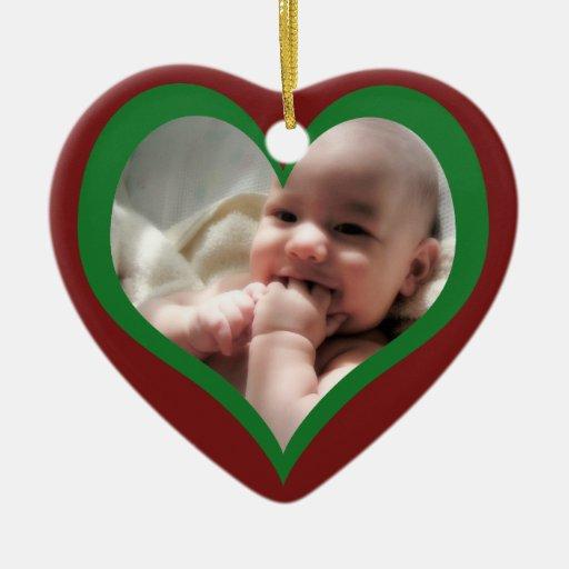 Primer navidad de Babys Adorno Navideño De Cerámica En Forma De Corazón