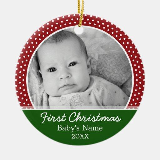 Primer navidad de Babys Adorno De Navidad
