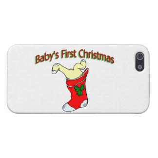 Primer navidad de los bebés iPhone 5 funda