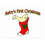 Primer navidad de los bebés postales
