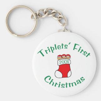 Primer navidad de los tríos - media 2008 llavero redondo tipo pin