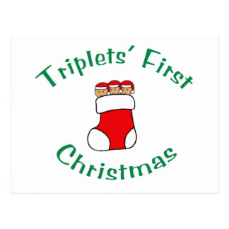 Primer navidad de los tríos - media (ninguna tarjetas postales