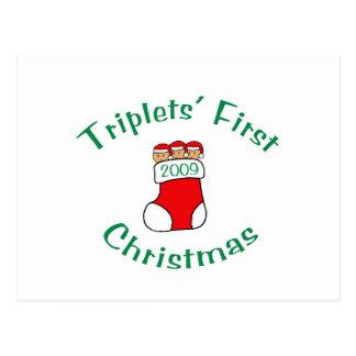 Primer navidad de los tríos postal