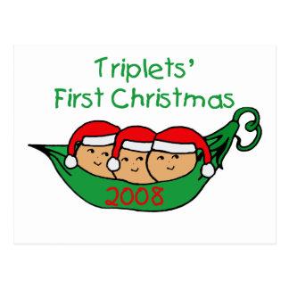 Primer navidad de los tríos - vaina 2008 postales