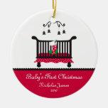 Primer navidad del bebé - pesebre y almacenamiento ornamentos de navidad