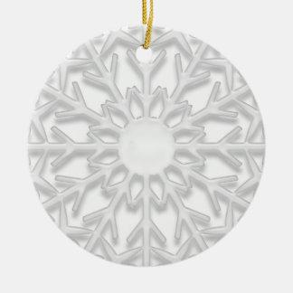 Primer navidad del copo de nieve en el nuevo ornam adorno para reyes