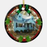 Primer navidad en el nuevo ornamento casero ornaments para arbol de navidad