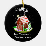 Primer navidad en nuestro nuevo hogar 2010 (pan de adorno navideño redondo de cerámica
