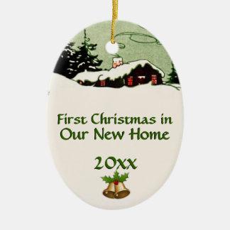 Primer navidad en nueva cabina del país de orígen ornamentos para reyes magos