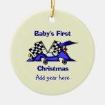 Primer navidad Racecar de Babys Adorno Para Reyes