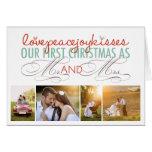 Primer navidad Sr. y señora Holiday Photo Greeting Tarjeton