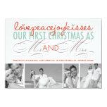 Primer navidad Sr. y señora Holiday Photo Invitación Personalizada