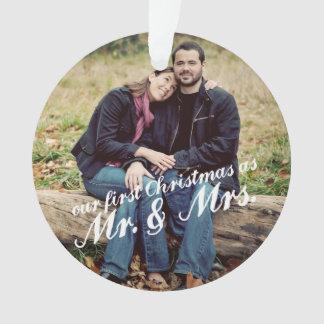 Primer navidad Sr. y señora Ornament de la foto