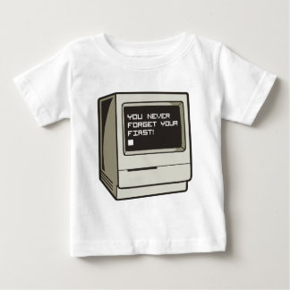 Primer ordenador retro playera de bebé