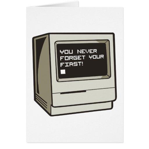 Primer ordenador retro tarjeton