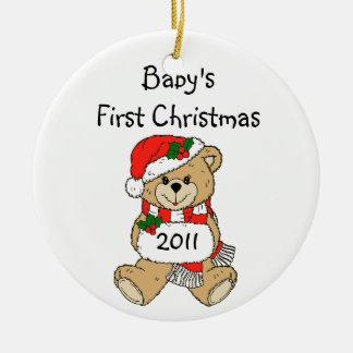 Primer ornamento 2011 del navidad del bebé adorno de navidad