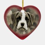 Primer ornamento 2012 del boxeador del perro de ornamentos para reyes magos