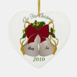 Primer ornamento de Belces de boda del navidad Adorno De Reyes