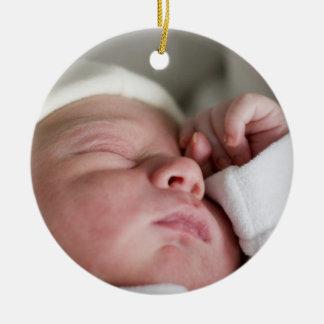 Primer ornamento de encargo del navidad de Babys Adorno Navideño Redondo De Cerámica