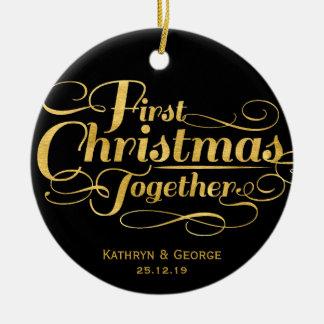 Primer ornamento de la foto del día de fiesta del  ornaments para arbol de navidad