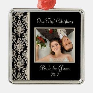 Primer ornamento de la foto del navidad ornato