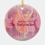 Primer ornamento del ballet del cascanueces de su adorno redondo de cerámica