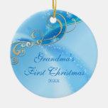 Primer ornamento del copo de nieve del navidad de adorno