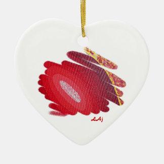 Primer ornamento del corazón de Chakra de la Adorno Navideño De Cerámica En Forma De Corazón