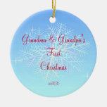 Primer ornamento del navidad de la abuela y del ab ornato