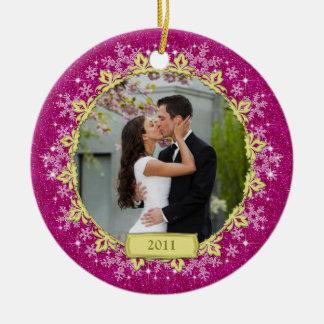 Primer ornamento del navidad de la foto del adornos de navidad