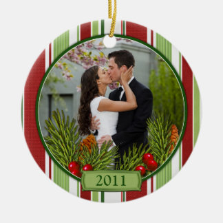 Primer ornamento del navidad de la foto del navida