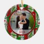 Primer ornamento del navidad de la foto del navida adorno de navidad