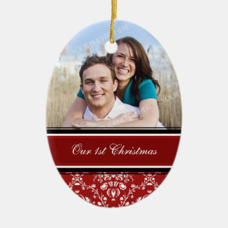 Primer ornamento del navidad de la foto del navida ornatos