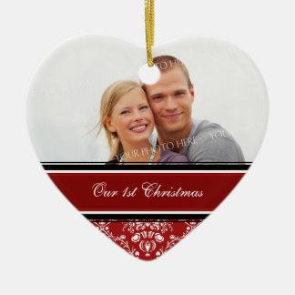 Primer ornamento del navidad de la foto del navida adorno