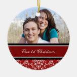 Primer ornamento del navidad de la foto del navida ornato