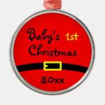 Primer ornamento del navidad del bebé con año ornamentos de reyes