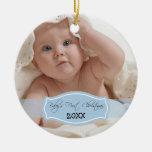 Primer ornamento del navidad del bebé de encargo adorno de reyes