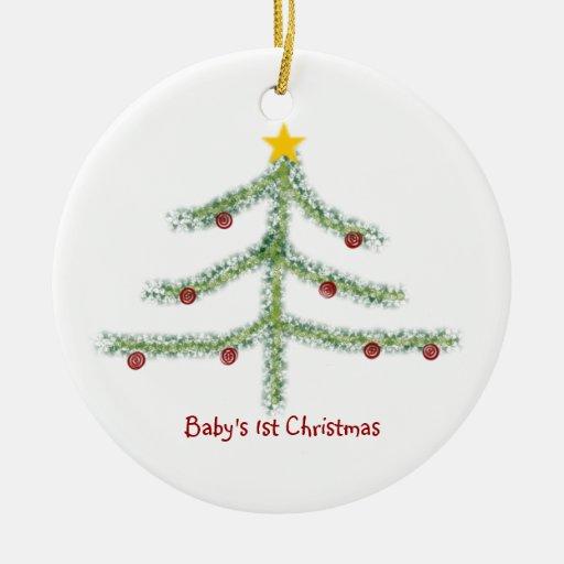 Primer ornamento del navidad del bebé ornamento de reyes magos
