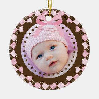 Primer ornamento del navidad del bebé ornamento para arbol de navidad