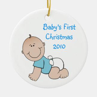 Primer ornamento del navidad del bebé ornamento de navidad