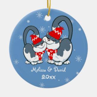 Primer ornamento del navidad del navidad adorno navideño redondo de cerámica