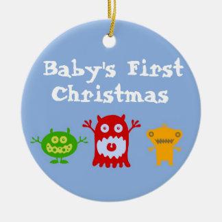 Primer ornamento del navidad del pequeño bebé de l adornos de navidad