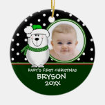 Primer ornamento del oso polar del navidad del adornos