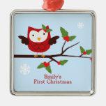 Primer ornamento del personalizado del navidad del adornos de navidad